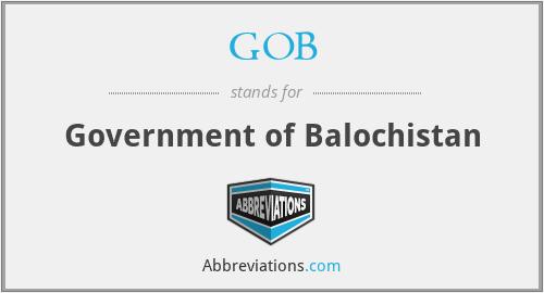 GOB - Government of Balochistan