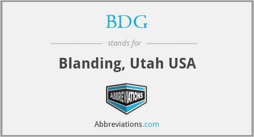BDG - Blanding, Utah USA