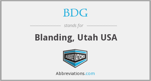 What does blanding stand for?