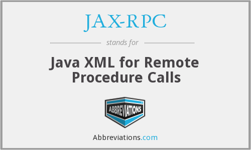 What does JAX-RPC stand for?