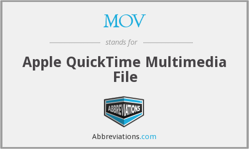 MOV - Apple QuickTime Multimedia File