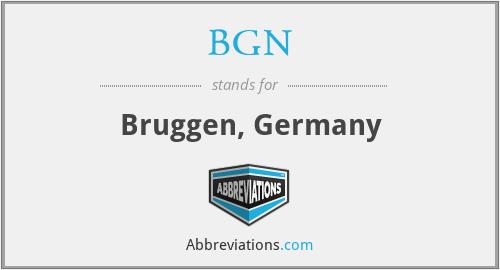 BGN - Bruggen, Germany
