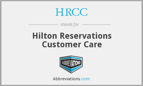 What does HRCC stand for?