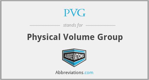 PVG - Physical Volume Group