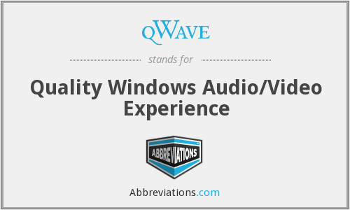 qWave - Quality Windows Audio/Video Experience