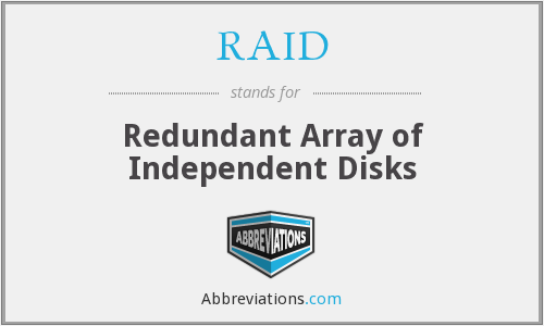RAID - Redundant Array of Independent Disks