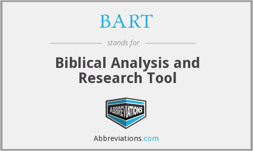 BART - Biblical Analysis and Research Tool
