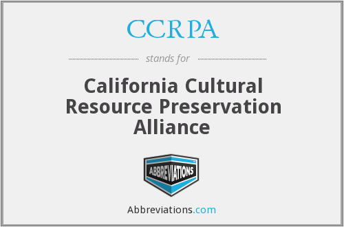 What does CCRPA stand for?
