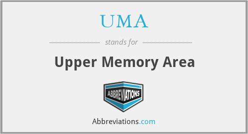 UMA - Upper Memory Area
