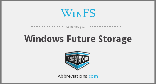WinFS - Windows Future Storage
