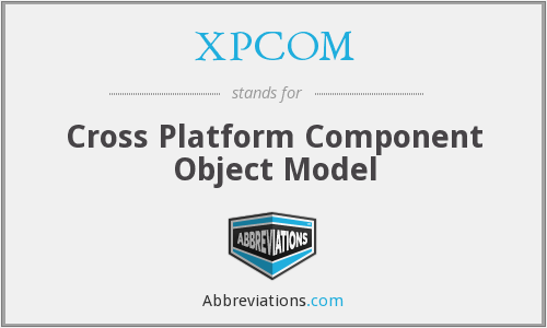 What does XPCOM stand for?