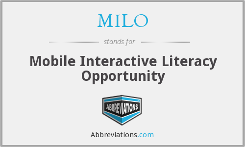 MILO - Mobile Interactive Literacy Opportunity