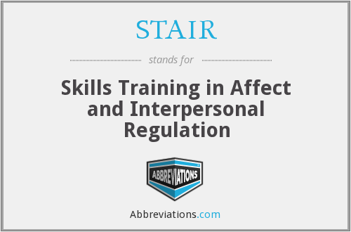 STAIR - Skills Training in Affect and Interpersonal Regulation