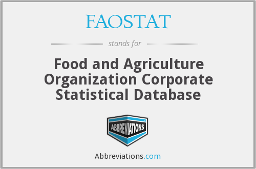 What does FAOSTAT stand for?