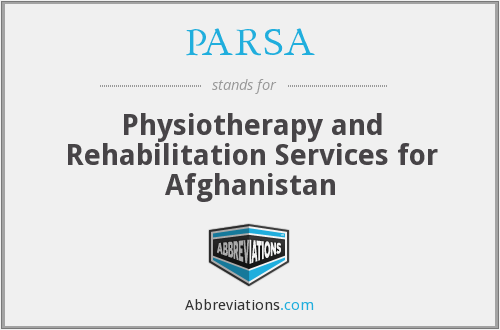 PARSA - Physiotherapy and Rehabilitation Services for Afghanistan