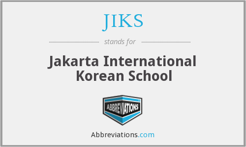 What does JIKS stand for?