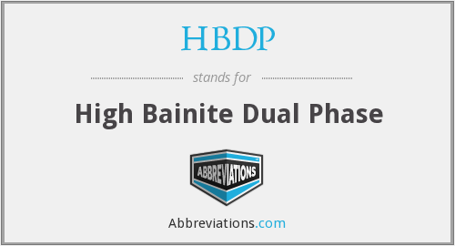 HBDP - High Bainite Dual Phase