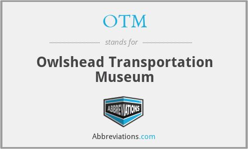 OTM - Owlshead Transportation Museum