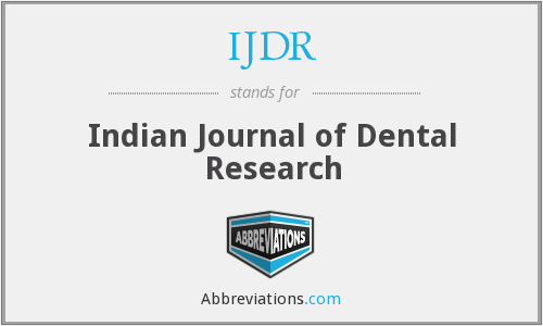 What does IJDR stand for?