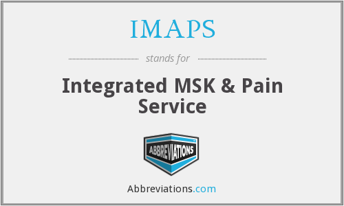 IMAPS - Integrated MSK & Pain Service