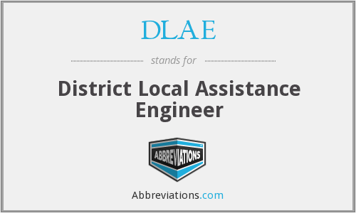What does DLAE stand for?