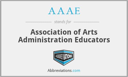 AAAE - Association of Arts Administration Educators
