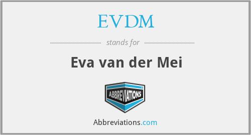 EVDM - Eva van der Mei