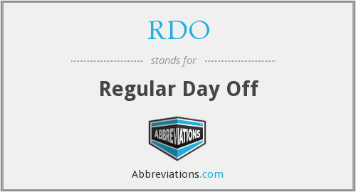 RDO - Regular Day Off