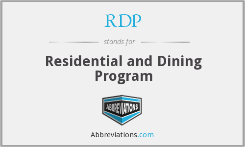 RDP - Residential and Dining Program
