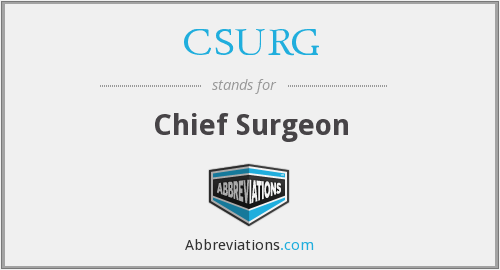 What does CSURG stand for?
