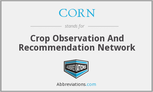 CORN - Crop Observation And Recommendation Network