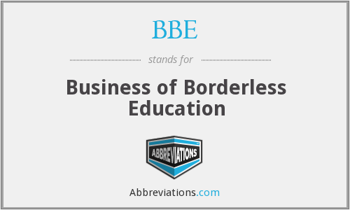 BBE - Business of Borderless Education