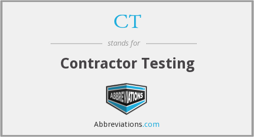 CT - Contractor Testing