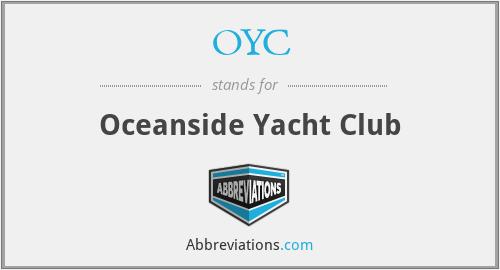 OYC - Oceanside Yacht Club
