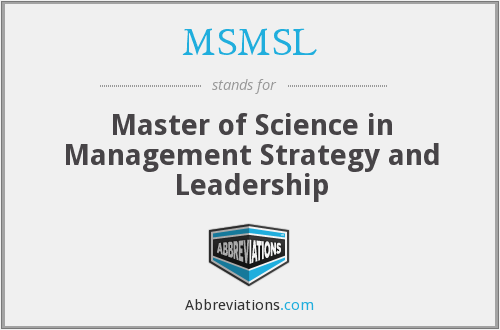What does MSMSL stand for?
