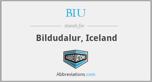 BIU - Bildudalur, Iceland