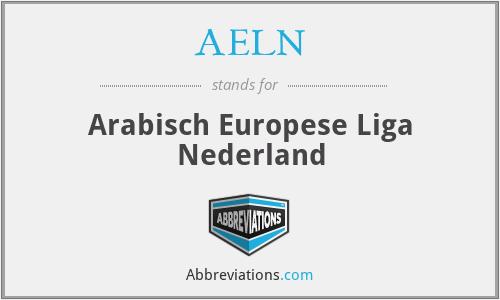 AELN - Arabisch Europese Liga Nederland