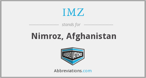 IMZ - Nimroz, Afghanistan