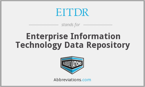 What does EITDR stand for?