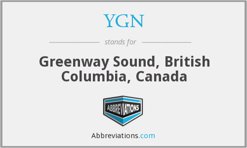 YGN - Greenway Sound, British Columbia, Canada