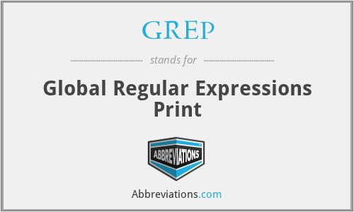 GREP - Global Regular Expressions Print