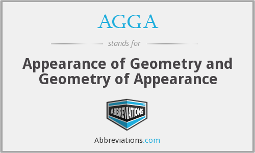 AGGA - Appearance of Geometry and Geometry of Appearance