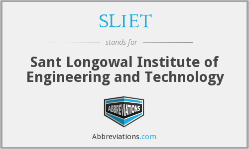 What does SLIET stand for?