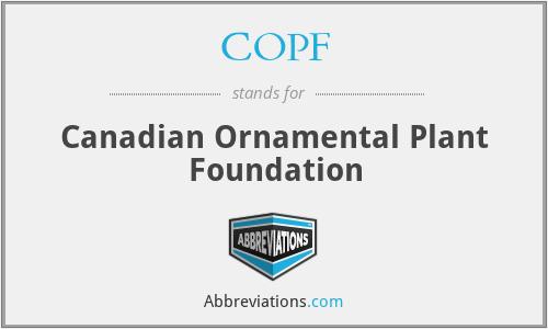 COPF - Canadian Ornamental Plant Foundation