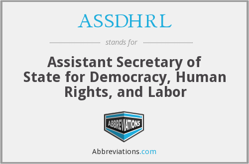 What does ASSDHRL stand for?