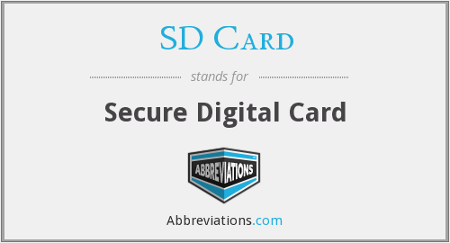 What does SD CARD stand for?