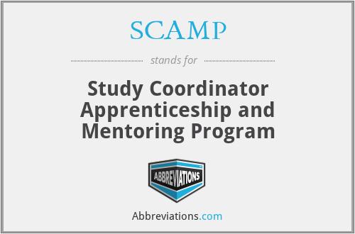 SCAMP - Study Coordinator Apprenticeship and Mentoring Program