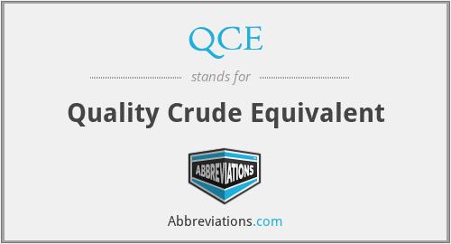 QCE - Quality Crude Equivalent