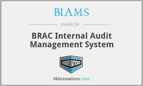 BIAMS - BRAC Internal Audit Management System