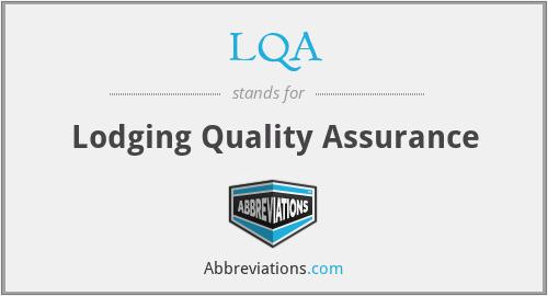 LQA - Lodging Quality Assurance